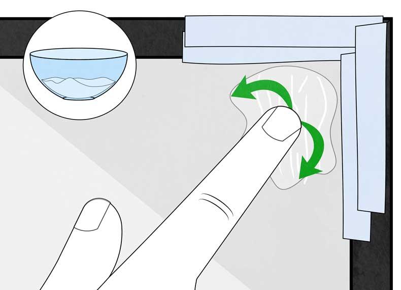 از بین بردن چسبندگی شیشه