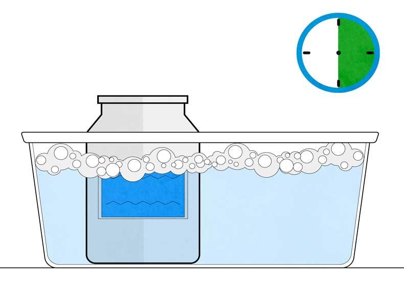 کندن چسب مایع از روی شیشه