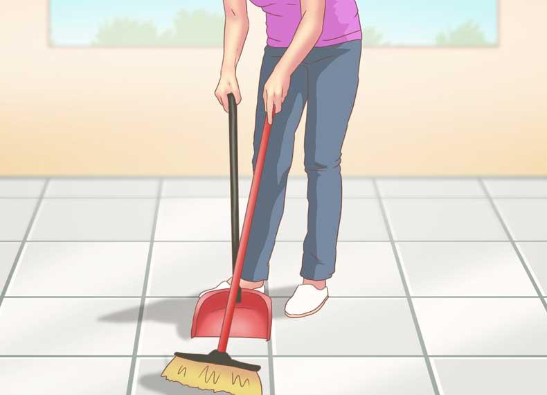 تمیز کردن سرامیک