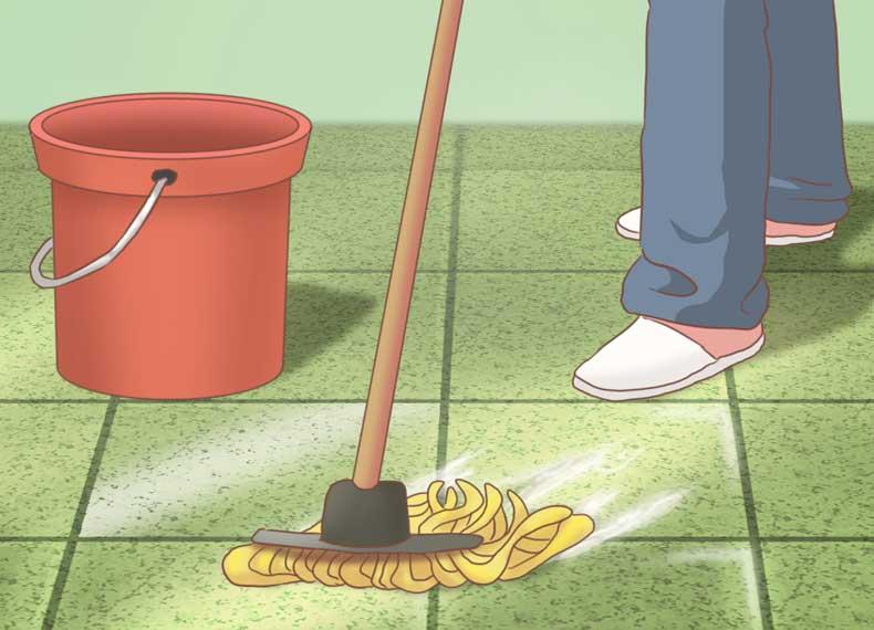تمیز کردن کف سرامیکی