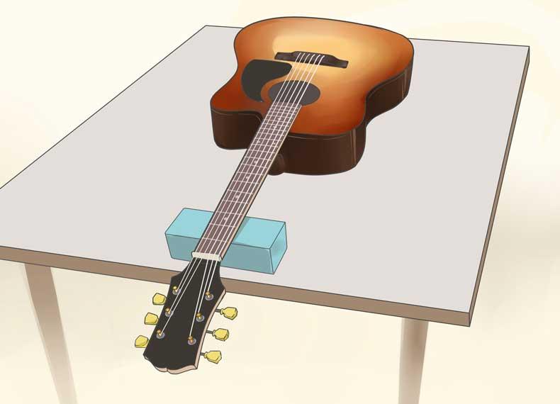 تمیز کردن سیم گیتار