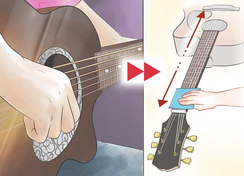 چرب شدن سیم های گیتار