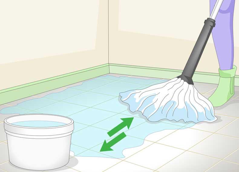 تمیز کردن اصولی کاشی