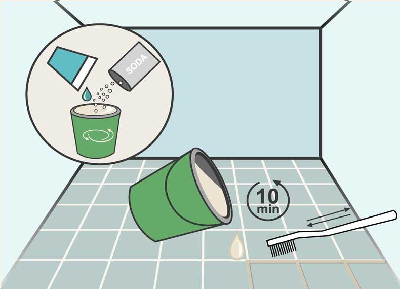 تمیز کردن کاشی حمام