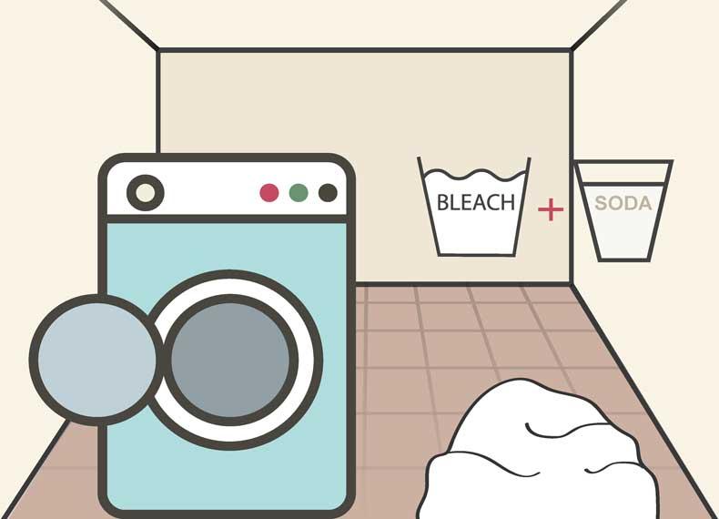 شستن لباس با جوش شیرین