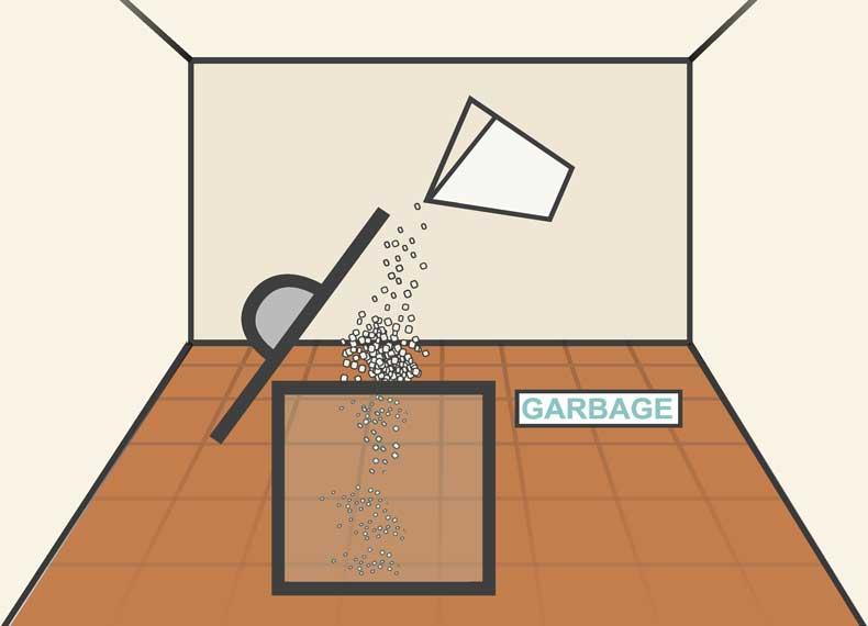 گرفتن بوی سطل زباله