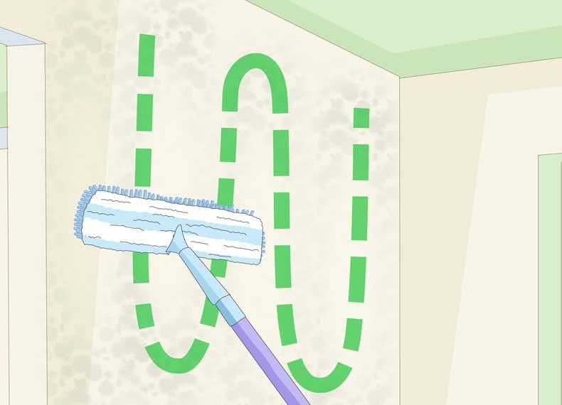 تمیز کردن سریع دیوار