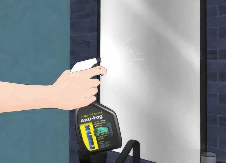 اسپری ضد بخار آینه