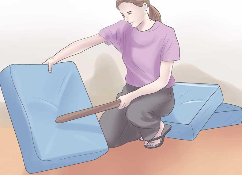 گرفتن خاک اضافی خانه