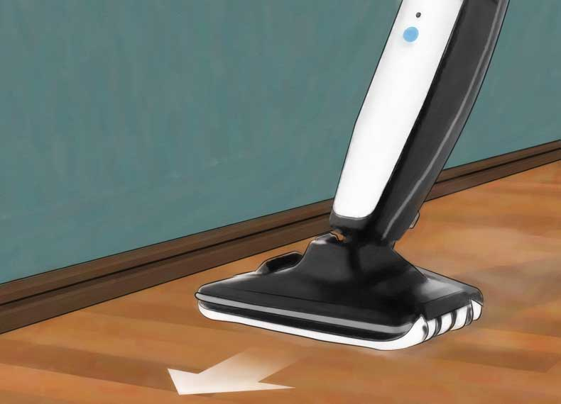 کشیدن بخار شوی روی کف