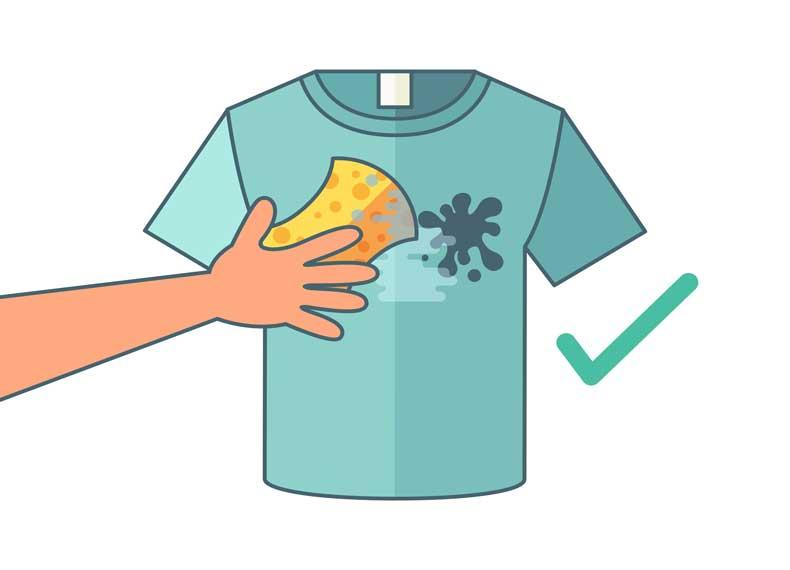 پاک کردن لباس جوهری