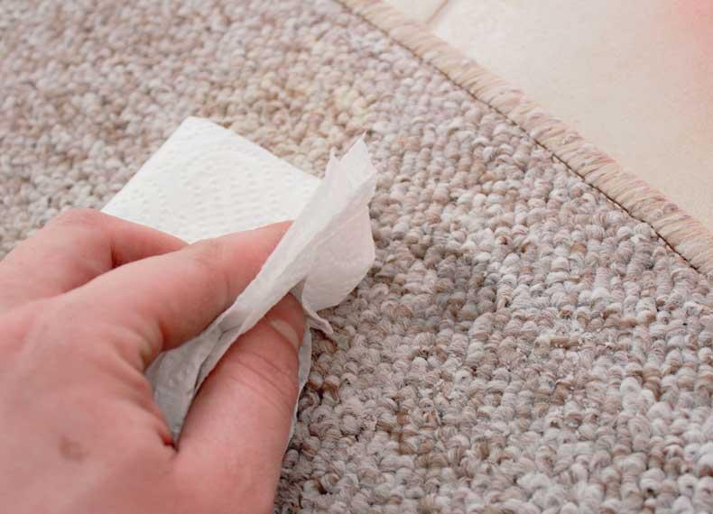 لک شدن فرش