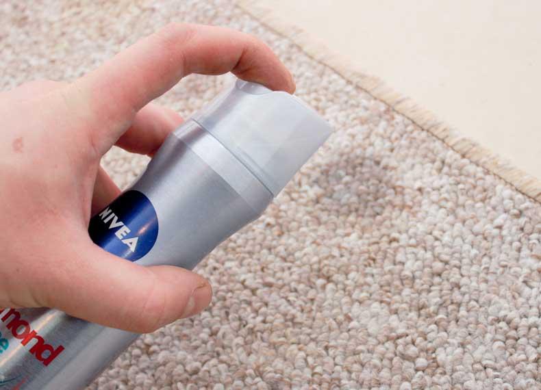 روش خانگی ضد لک فرش