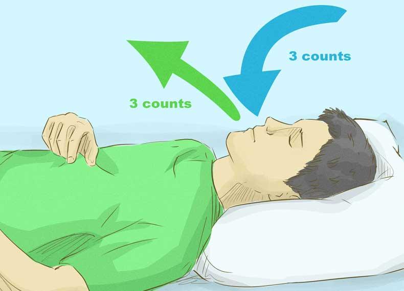 تنفس عمیق و به خواب رفتن سریع