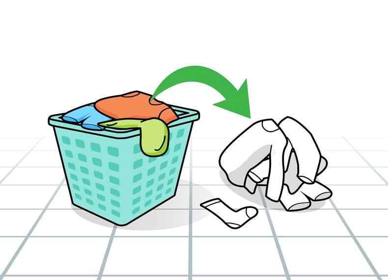 طریقه شستن لباس سفید