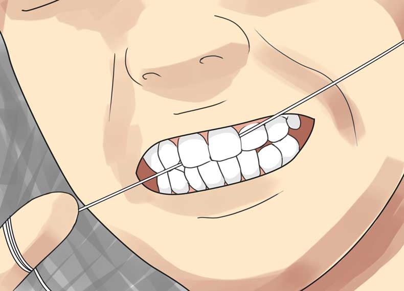 نخ دندان و بوی دهان