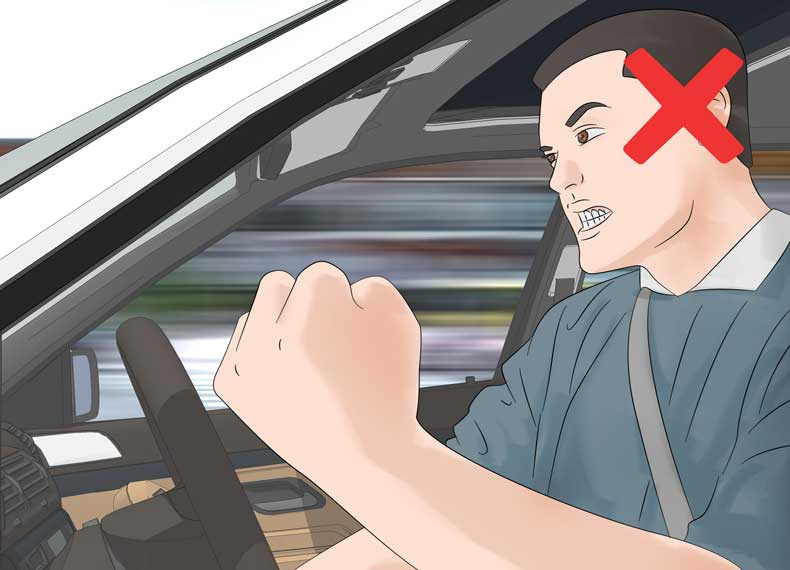 عصبانیت رد رانندگی
