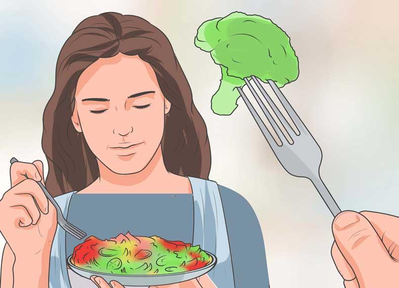 لاغری با آب و سبزی