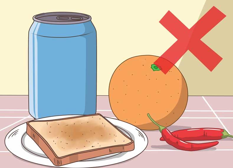 موادغذایی مضر برای آفت