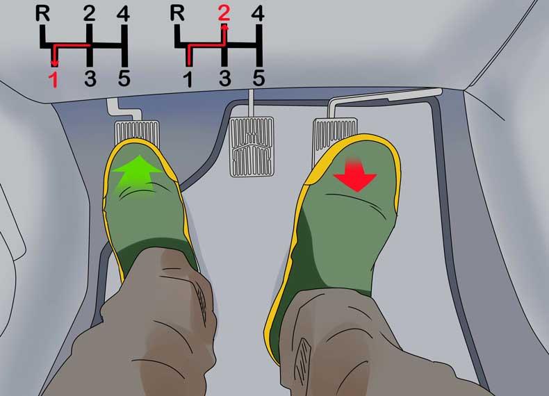 کنترل کلاچ و دنده در سربالایی
