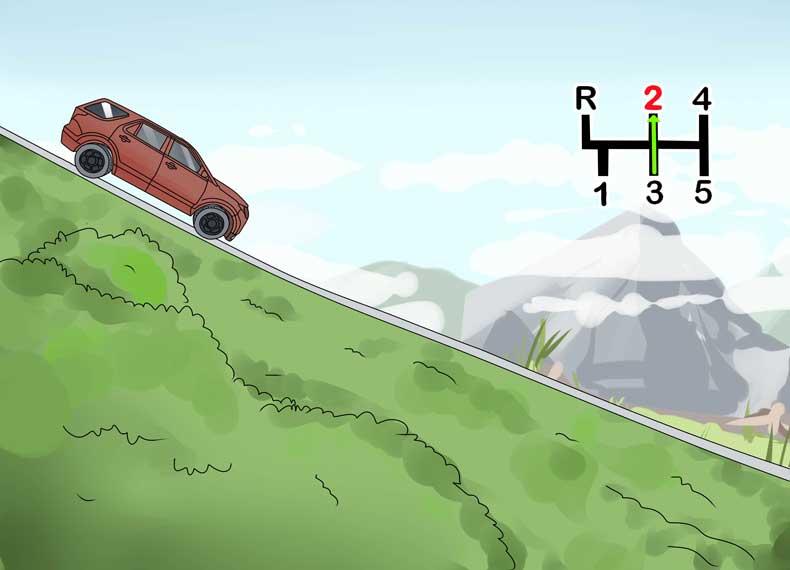 رانندگی در سرپایینی