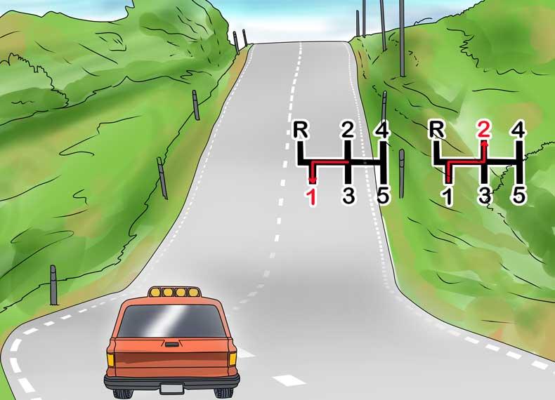 رانندگی در سربالایی شدید