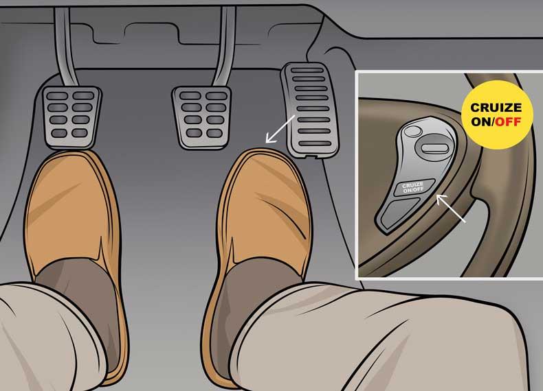 کنترل ماشین بدون ترمز