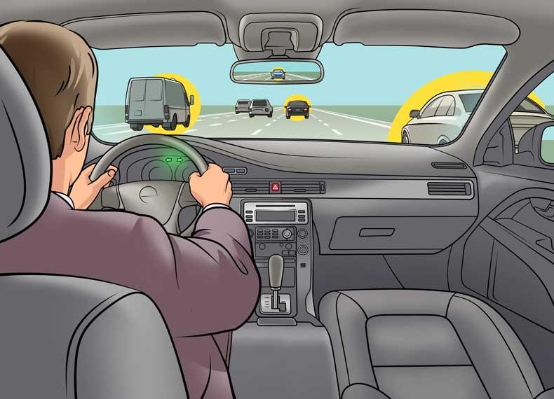 کنترل کردن ماشینی که ترمز بریده