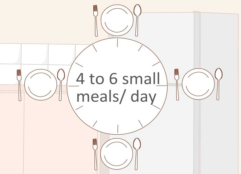 خوردن 5 وعده غذا در روز