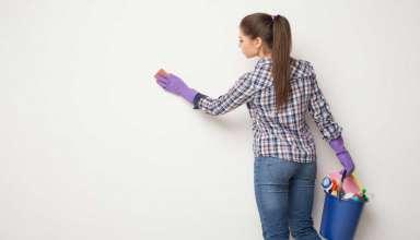 تمیز کردن دیوار