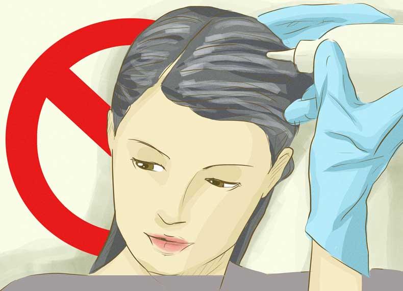 رنگ کردن ریزش مو