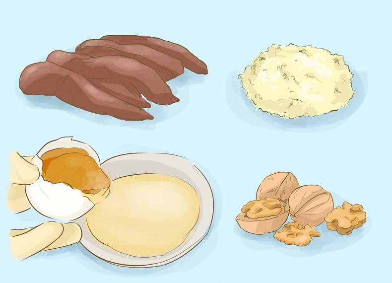 خوراکی برای جلوگیری از ریزش مو