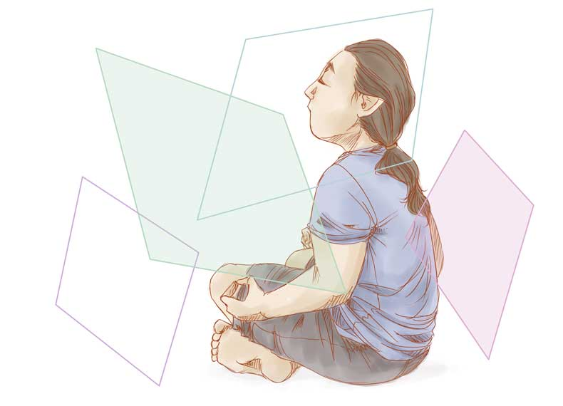 طرز نشستن در مدیتیشن