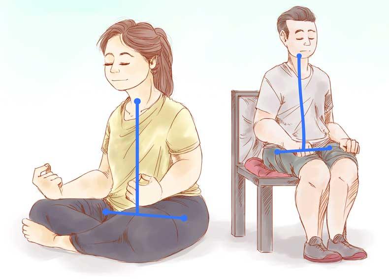 نحوه قرارگیری بدن در مدیتیشن
