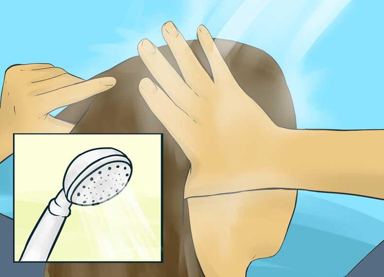 از بین بردن خشکی پوست سر