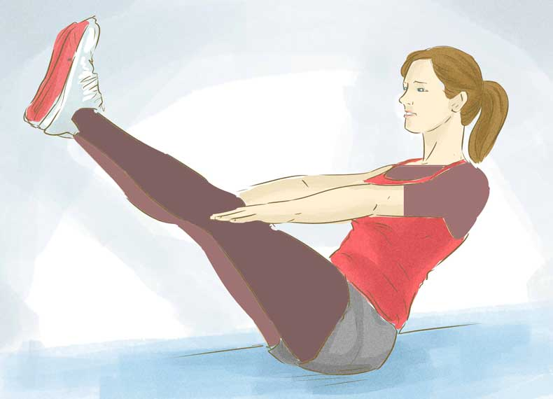 ورزش مناسب زیر بغل