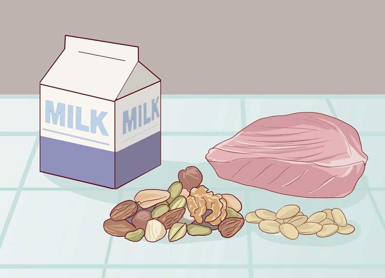 موادغذایی مفید برای درمان شل شدن پوشت