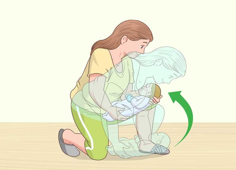بلند کردن درست نوزاد