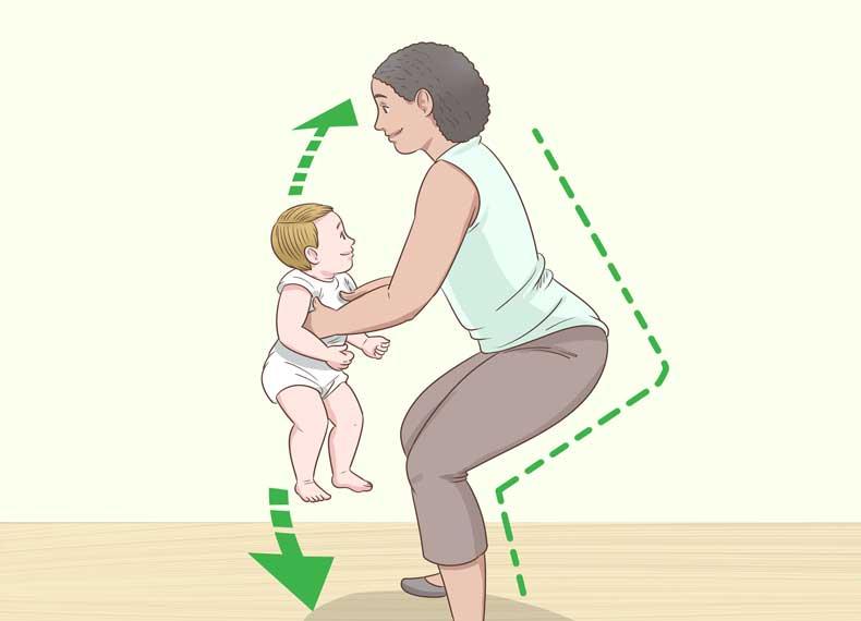 درست بلند کردن بچه