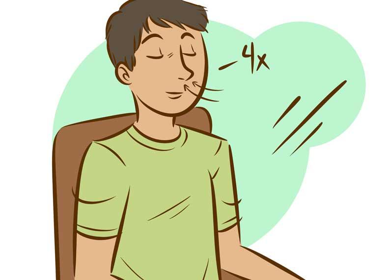 نشستن صحیح برای تنفس عمیق
